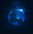 abstract futuristic realistic earth vector image