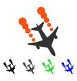 airplane smoke trace flat icon vector image