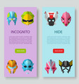 alien monster masks incognito and hide vector image vector image