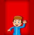background template design with muslim boy waving