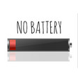 battery charger with finger low batteries and vector image