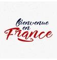 Bienvenue en France label 2016 Soccer emblem vector image vector image