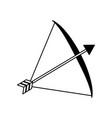 bow arrow equipment vector image