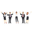 business happy people vector image