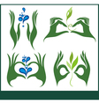 Collection of ecological symbols and signs vector image vector image