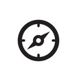 compass icon in flat style icon for apps ui vector image vector image