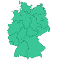 Contour map of Germany vector image