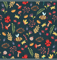 cute forest seamless pattern vector image vector image