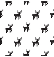 Deer black and white kid scandinavian pattern vector image