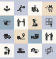 delivery logistic icons for web vector image vector image