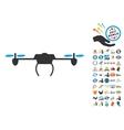 Drone Icon With 2017 Year Bonus Symbols vector image vector image
