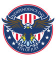 eagle badge of independence day of united states vector image vector image