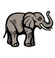 elephant flat image isolated object white vector image