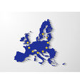 European Union map with shadow effect vector image vector image