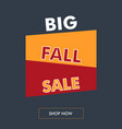 fall sale vertical banner with oblique back vector image vector image