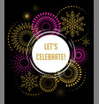 fireworks and celebration background vector image vector image