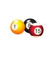 flat cartoon billiard balls with numbers vector image vector image