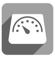 Floor Weight Meter Flat Square Icon with Long vector image vector image