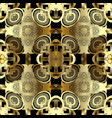 floral gold 3d greek seamless pattern vector image vector image
