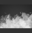 fog smoke cloud isolated on transparent background vector image vector image