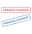 french cuisine textile stamps vector image vector image