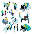 Friends Isometric Set vector image vector image