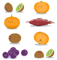 funny fruits fun pack vector image vector image