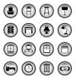 furniture buttons vector image vector image
