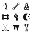 game of golf icons set simple style vector image vector image