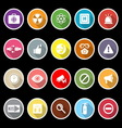 General health care icons with long shadow vector image vector image