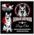 german shepherd - set for t-shirt logo and vector image