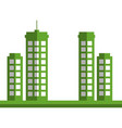 green city buildings icon vector image vector image