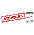 grunge address scratched rectangle stamps vector image vector image