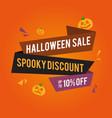 halloween sale background with pumpkins vector image vector image