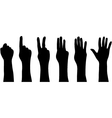 hands which count vector image
