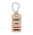 hang tag made in syria with flag icon isolated on vector image vector image