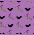 happy halloween seamless pattern background with vector image vector image