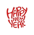 Holiday Lettering happy new year vector image