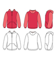 Hoodie sweater template vector image vector image
