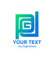 initial letter pdg logo template colorfull square vector image vector image