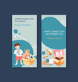 international day charity flyer concept design vector image vector image