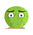 isolated sad cactus character vector image vector image