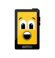 isolated surprised cellphone emote vector image vector image