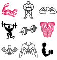 logo icons muscle vector image vector image