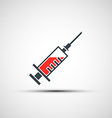logo medical syringe vector image