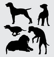 mammal dog animal silhouette vector image vector image