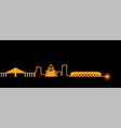 manaus light streak skyline profile vector image vector image