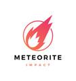 meteorite impact logo icon vector image