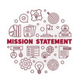 mission statement round red outline vector image vector image