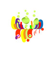 modern abstraction composition waterfall vector image vector image
